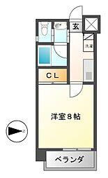 ボタニカルコート[6階]の間取り