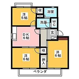 タウンコートM[2階]の間取り