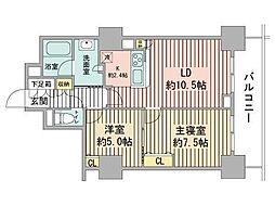 プライムアーバン札幌 RIVER FRONT[11階]の間取り