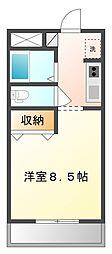 Ohashi Flat2[105号室]の間取り