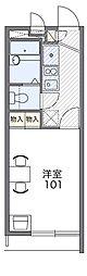 Osaka Metro四つ橋線 住之江公園駅 徒歩10分の賃貸マンション 3階1Kの間取り