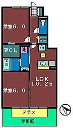 ベルデュール3番館[105号室]の間取り