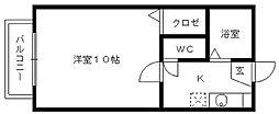 カムアイズ宮ノ陣[201号室]の間取り