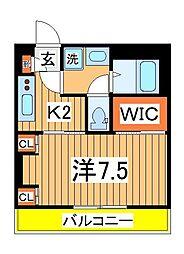 千葉県柏市若葉町の賃貸アパートの間取り
