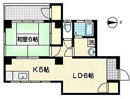 第2アーバン東横[2階]の間取り
