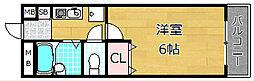 レフティー岡東[2階]の間取り