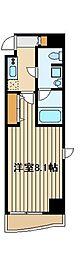 西武池袋線 保谷駅 徒歩4分の賃貸マンション 7階1Kの間取り