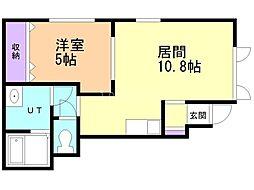 仮)新琴似7条5丁目新築アパート 1階1LDKの間取り