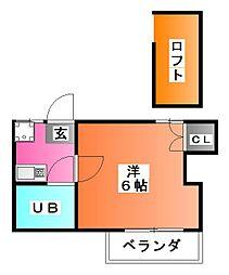 埼玉県戸田市笹目4の賃貸アパートの間取り