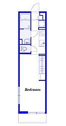 JR京浜東北・根岸線 南浦和駅 徒歩11分の賃貸マンション 3階1Kの間取り
