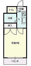 JR山形新幹線 山形駅 バス10分 TUY通り下車 徒歩1分の賃貸マンション 3階1Kの間取り