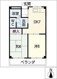 センチュリーマンション[3階]の間取り