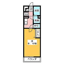 ルウナ[3階]の間取り