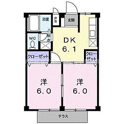 ハイツコーエイ[2階]の間取り