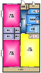 ロイヤルコンフォート大宮[2階]の間取り