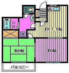 埼玉県川口市末広3丁目の賃貸マンションの間取り