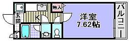 コリーヌ二色[207号室]の間取り