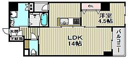 アトリエール堺新町[6階]の間取り