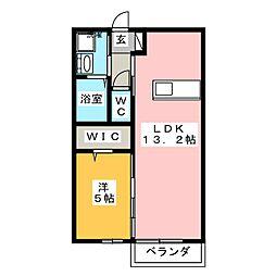 New Oak A棟[2階]の間取り