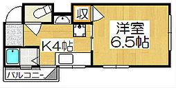 COMODO白梅[402号室]の間取り