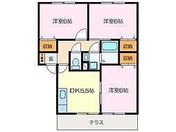 プレミールA・B[1階]の間取り