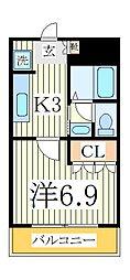 レジデンスCK[2階]の間取り