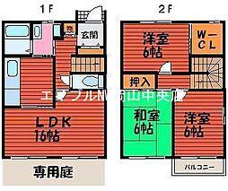 [テラスハウス] 岡山県岡山市北区今3丁目 の賃貸【/】の間取り