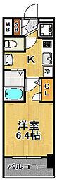プレミアムコート大正フロント[7階]の間取り
