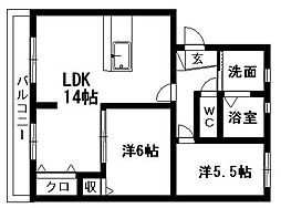 MSタウンIII[A1号室]の間取り