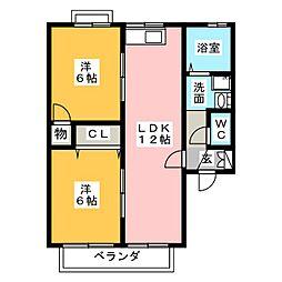 ドミールドルチェ 参番館[2階]の間取り