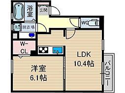 カーサビアンカ[2階]の間取り