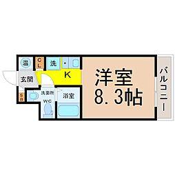 愛知県名古屋市中区新栄1丁目の賃貸マンションの間取り