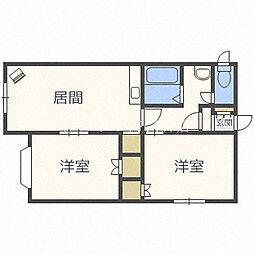 北海道札幌市豊平区平岸一条16丁目の賃貸アパートの間取り