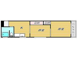 サトウマンション[5階]の間取り