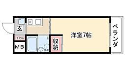 愛知県名古屋市昭和区天神町1丁目の賃貸マンションの間取り