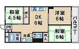上野坂ハイツ[3階]の間取り