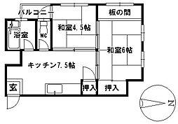 愛知県名古屋市昭和区安田通4丁目の賃貸マンションの間取り