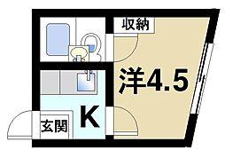 諏訪東生駒ビル[4階]の間取り