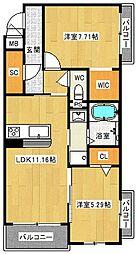 (仮称)八尾市シャーメゾン宮町1丁目計画[3階]の間取り