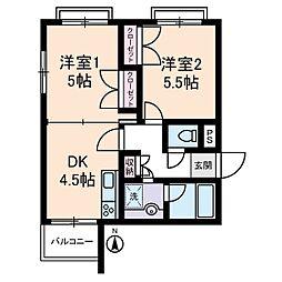 クレッセン経堂[3階]の間取り