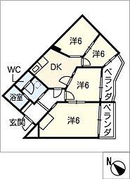 ハイツ110[4階]の間取り