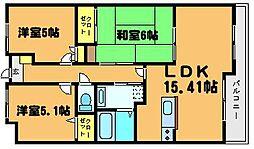 N-houseII[102号室]の間取り