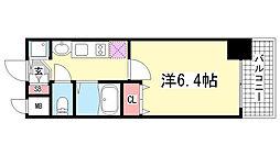 プレサンス三ノ宮駅前プライムタイム[10階]の間取り