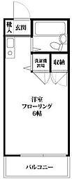 プレシェード新宿[302号室]の間取り
