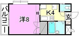 EMBASSY燦城(エンバシーサンジョウ)[205 号室号室]の間取り