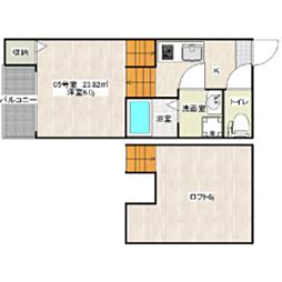 福岡県福岡市博多区東光2丁目の賃貸アパートの間取り