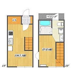 Calico-House 1[111号室]の間取り