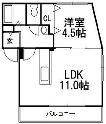 コンフォート2.5[4階]の間取り