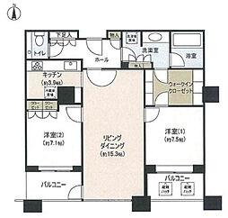 グランフロント大阪オーナーズタワー[1600号室]の間取り