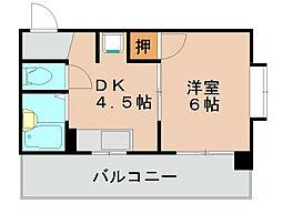 メモリープラザ吉塚[4階]の間取り